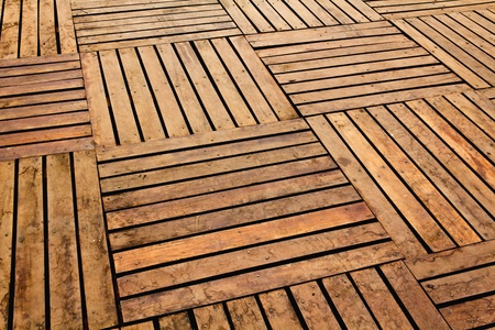 Patterns and textures of a wooden planks pavement Stock Photo - 8938049