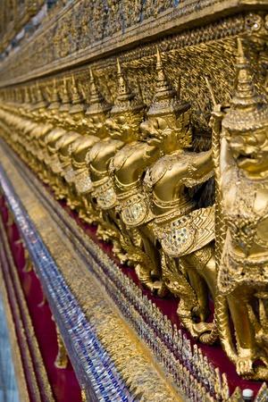 Golden Garuda in Grand Palace Bangkok Thailand Stock Photo