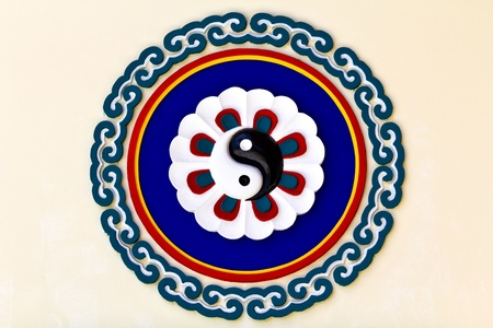 Colorful yin-yang sign in the chinese temple, Thailand Stock Photo - 9552503