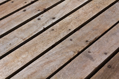 Patterns and textures of a wooden planks pavement Stock Photo - 10348644
