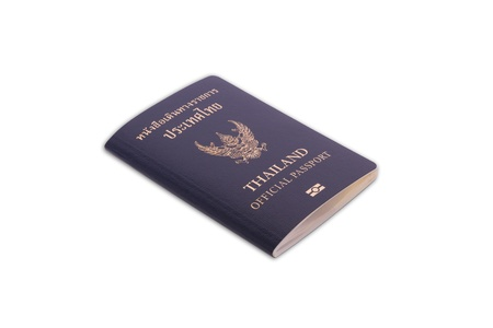 Thailand Official Passport Isolated on White Blackground