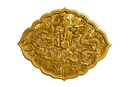 Chinese dragon image isolated on white background