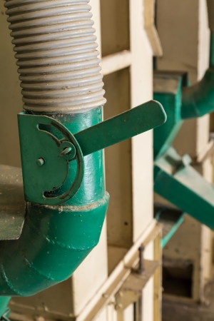 rice mill: Green Lever control in the rice mill