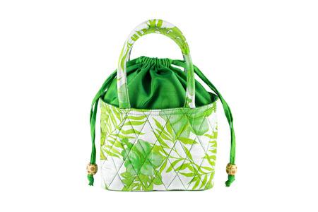 Women s handbags made from silk  Stock Photo
