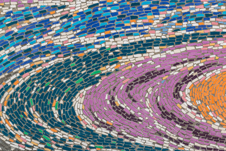 mosaic art: Colorful glass mosaic art and abstract wall background. Stock Photo
