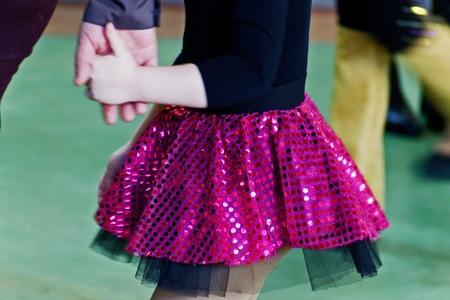 Lilac glamor tulle ballerina skirt. Stock Photo