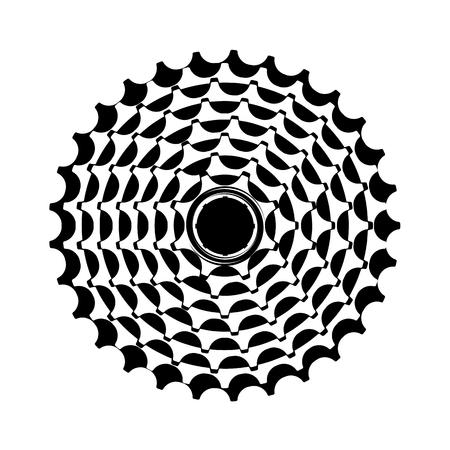 vector illustratie fiets cassette op een witte achtergrond Stock Illustratie