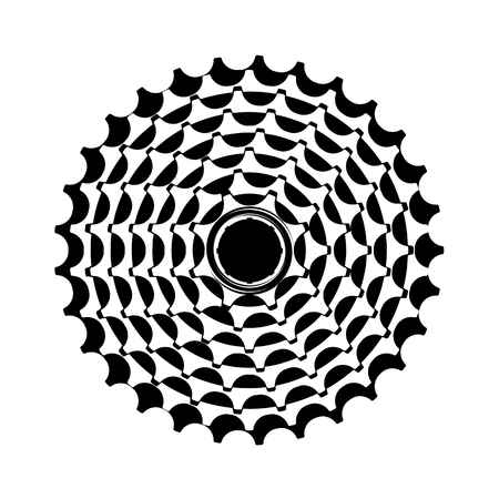 vector illustration bike cassette on a white background Stock Illustratie