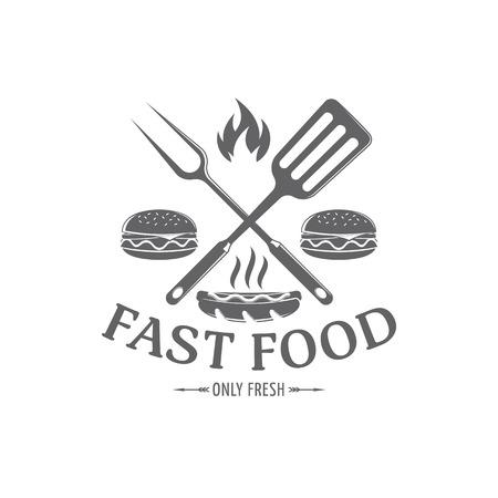 vector fast food emblem