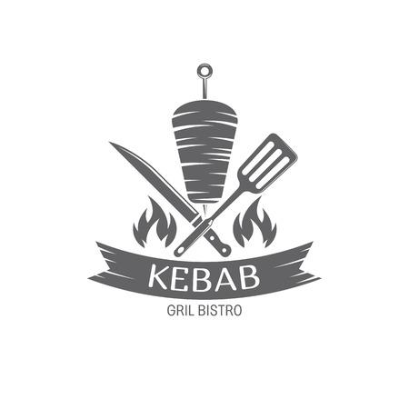 vector Kebab embleem Stockfoto