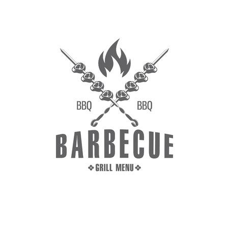 vector BBQ emblem
