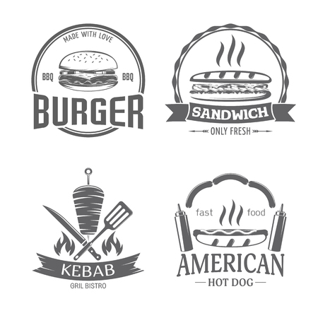fast food and grill badges