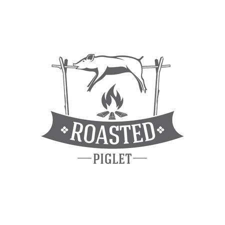 pig roasted vector emblem Ilustração