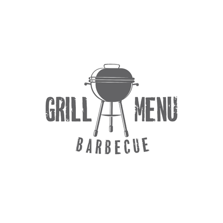 A vector barbecue badges on plain background.