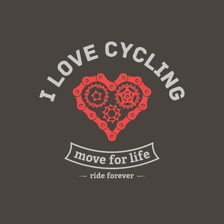vector bicycle emblem illustration.