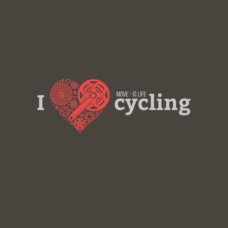 vector bicycle emblem Stock Photo