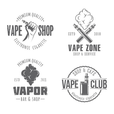 Vape vector badges Ilustração
