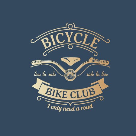 vector illustration retro bicycle emblem for design and advertising