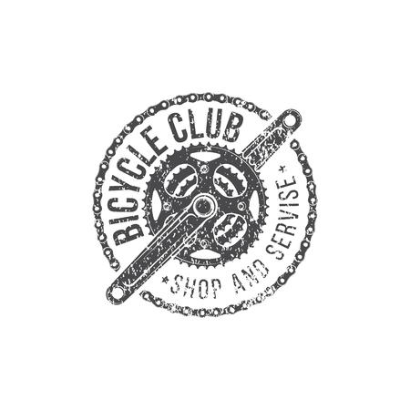 Emblème de vélo rétro illustration vectorielle isolé sur fond blanc pour la conception et la publicité