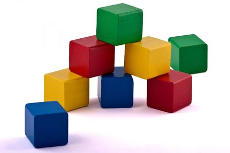 Wooden Toy Building Blocks  photo