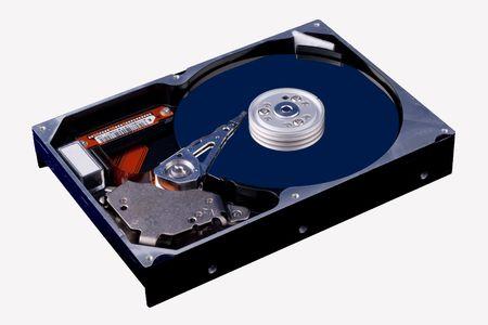 Open harddisk isolated on white background  Stock Photo - 7894709
