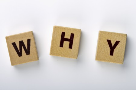 Wood magnets spelling  Stock Photo