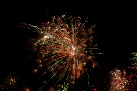 New Years Eve fireworks against black sky Stock Photo - 8443849