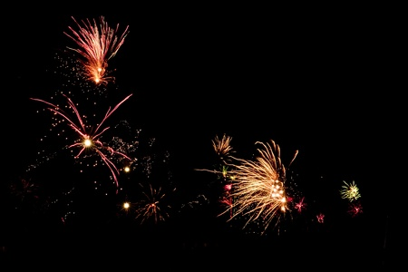 New Years Eve fireworks against black sky Stock Photo - 8443845