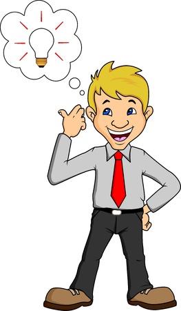 young businessman good idea Illustration
