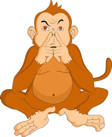 funny cartoon monkey Vector