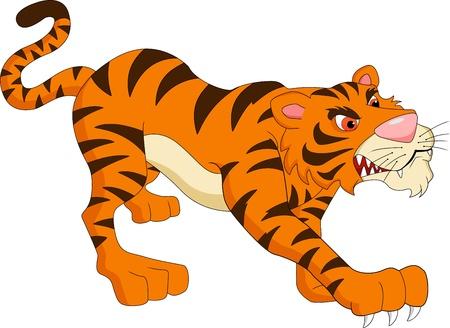 tigre caricatura: tigre de dibujos animados