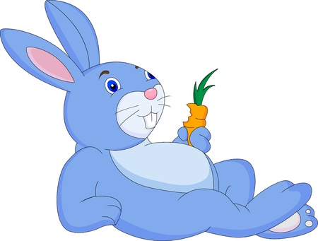 funny rabbit cartoon Vector