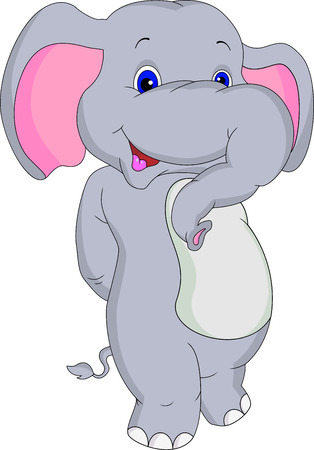 animaux zoo: éléphant mignon de bande dessinée