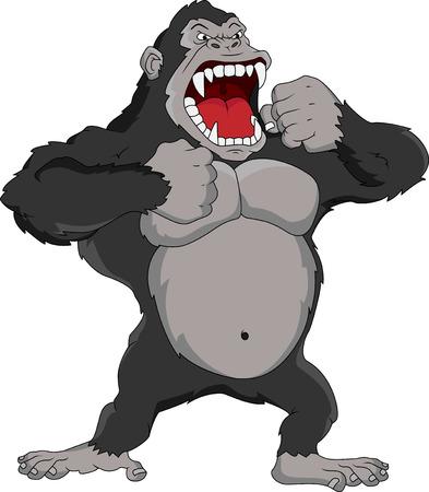arm muskeln: w�tend Gorilla Cartoon
