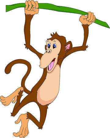 thumping: cute monkey cartoon hanging