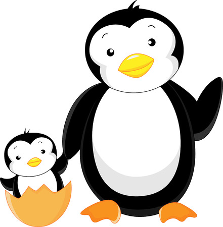 cute penguin cartoon Stock Vector - 23513442