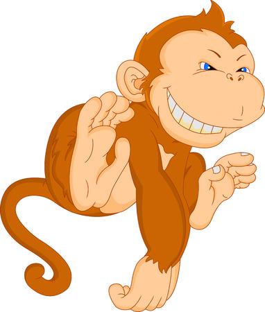 plant stand: cute monkey cartoon