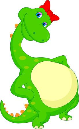 cute dinosaur: historieta linda del dinosaurio Vectores