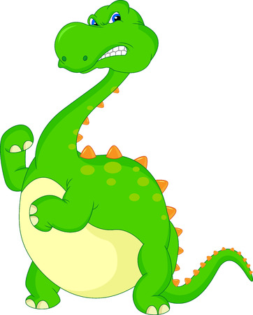 angry dinosaur cartoon Vector