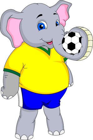 elephant cartoon with a ball