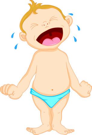 head pain: baby crying Illustration