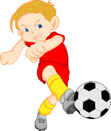 boy cartoon soccer player Vector
