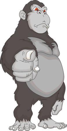 arm: gorilla cartone animato