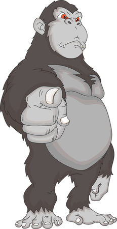 arm muscles: gorilla cartoon Illustration