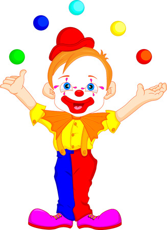clown nose: clown cartoon