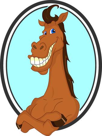 smirk: horse cartoon
