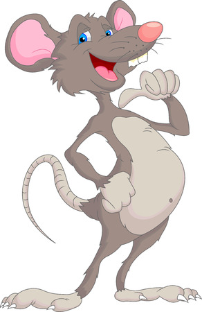 little finger: cute mouse cartoon Illustration