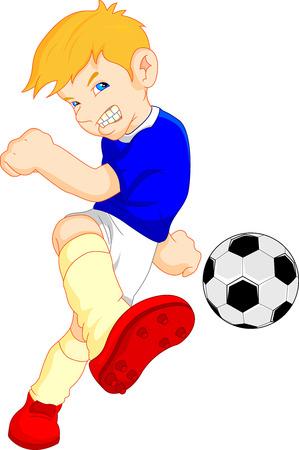 penalty: boy cartoon soccer player