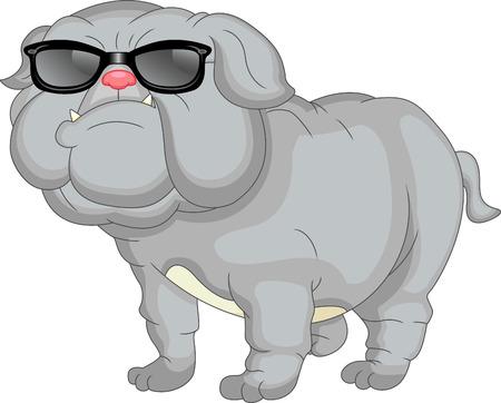cute english bulldog cartoon Stock Vector - 29033804