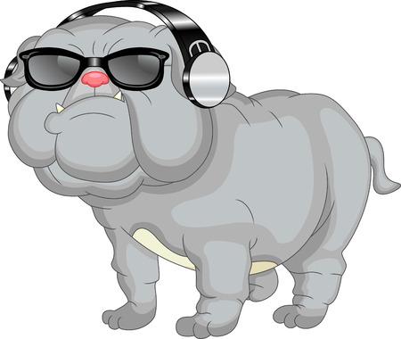 english bulldog: cute english bulldog cartoon